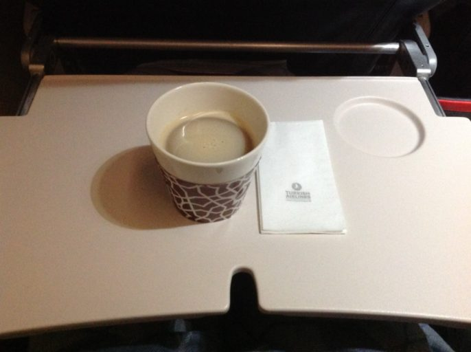Koffie, Turkish airlines, business class, Istanbul