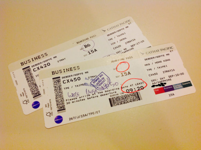 boarding pass, cathay pacific, hong kong