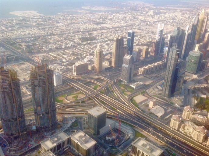 Uitzicht, Burj khalifa, Dubai