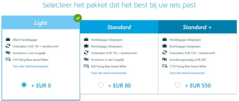 KLM zonder ruimbagage