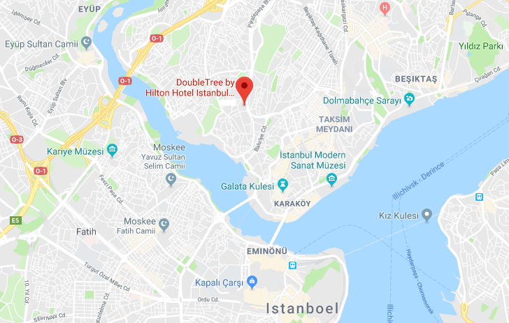 Istanbul, hilton, piyalepasa, locatie, doubletree