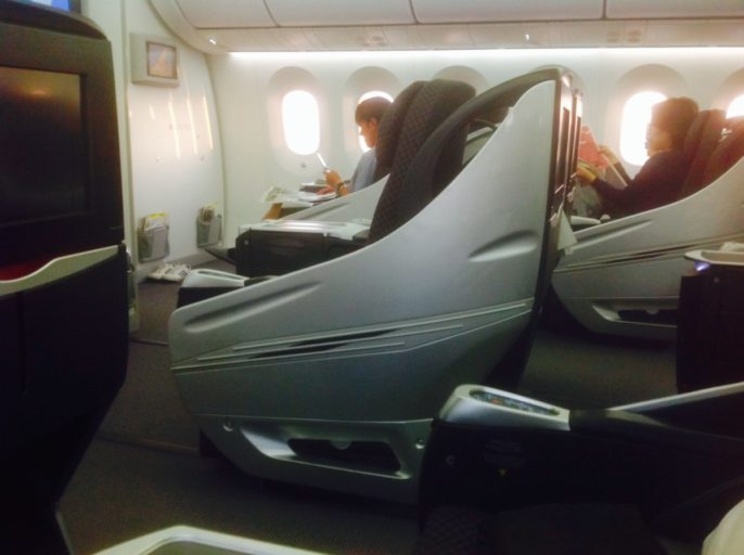 Japan airlines, business class, Boeing 787-800, dreamliner