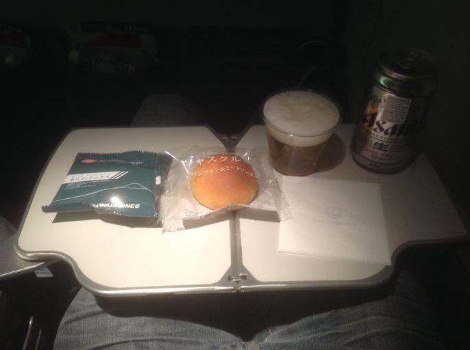 Japan Airlines, snacks, tokyo, bangkok