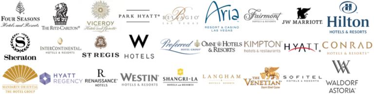 Enkele hotelketens die je kunt boeken via Club 1 Hotels