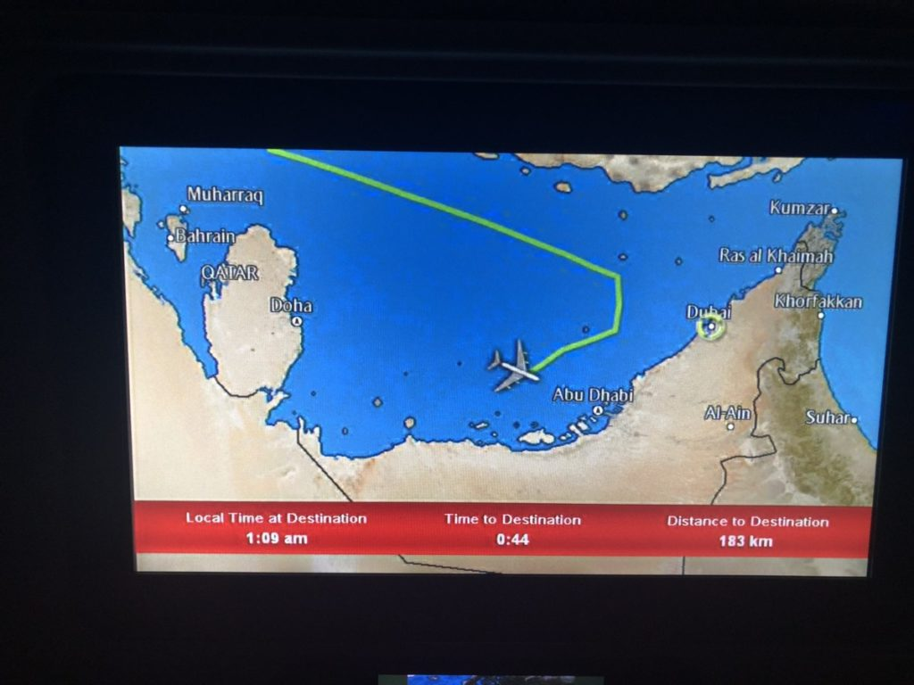 Emirates A380 Economy Class Dusseldorf Dubai
