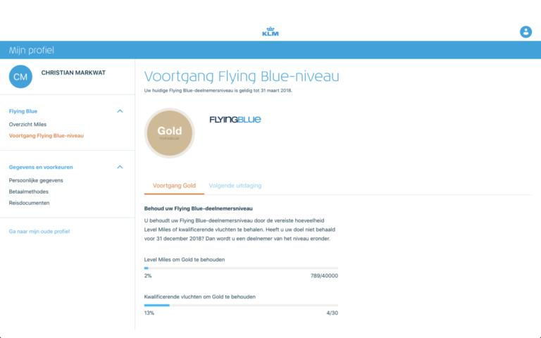 Vernieuwd profiel KLM