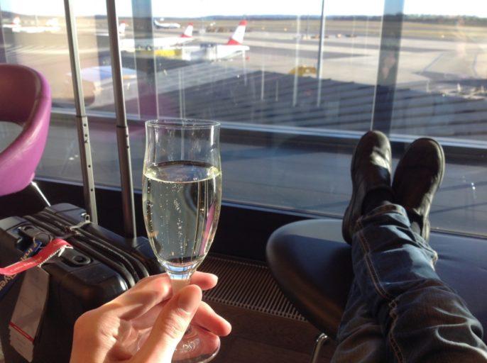 Austrian airlines, lounge, wenen, senator lounge
