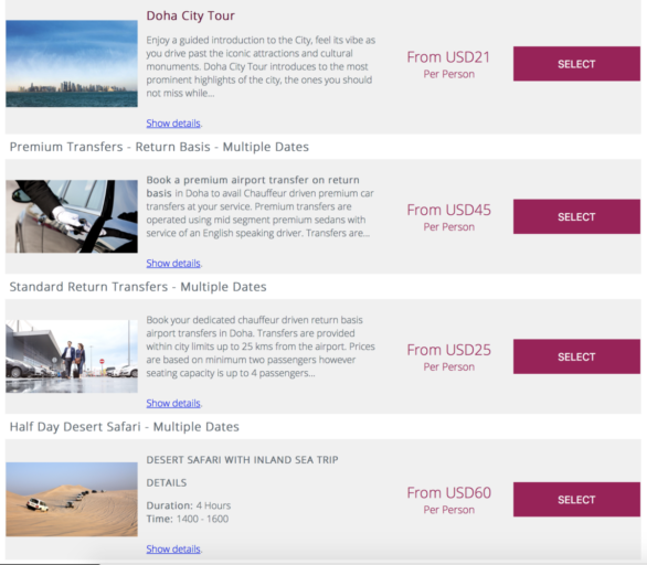 Stopover programma Qatar Airways