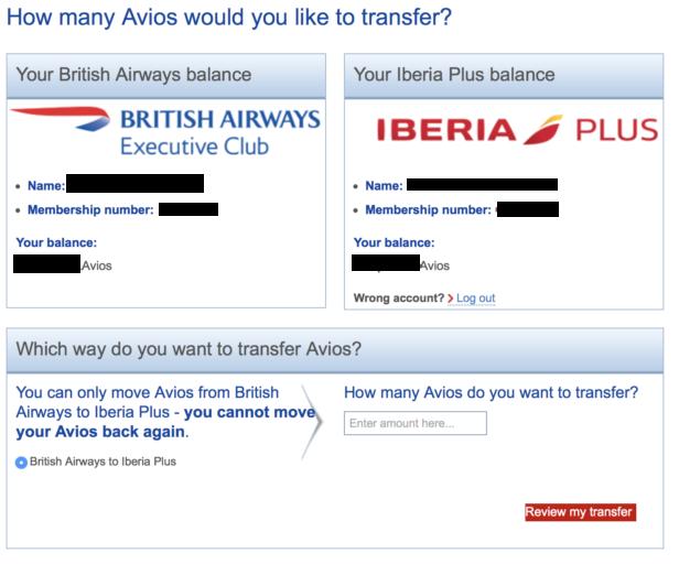 Melding: alleen mogelijk om van British Airways naar Iberia over te maken!