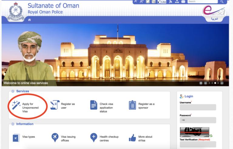 Oman eVisa - aanvragen online visum