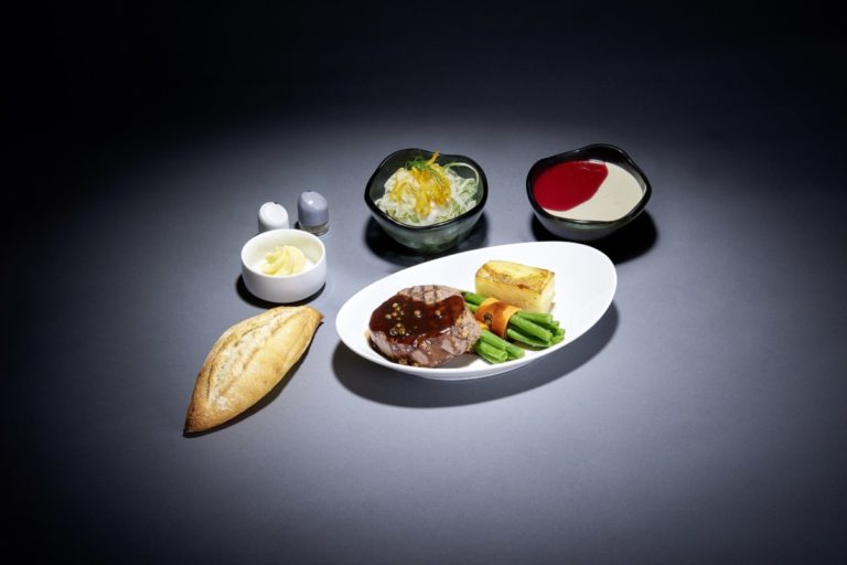 a la carte maaltijd bij Lufthansa