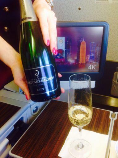 bubbels, champagne, qatar airways