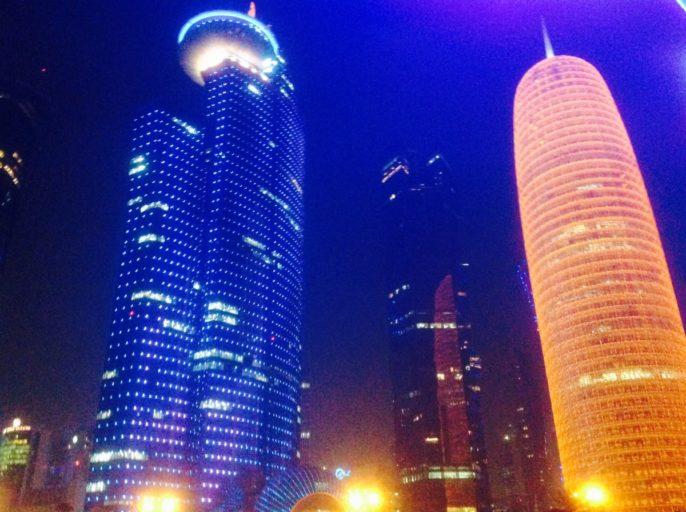 aspire tower, doha, qatar, burj doha