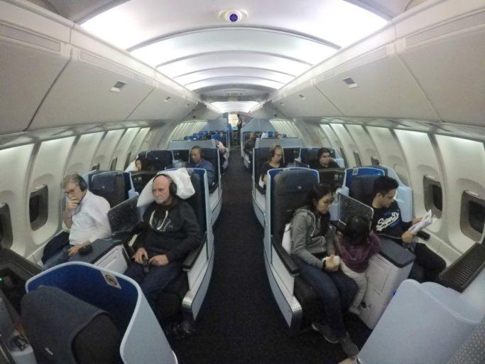 klm, business class, boeing 747, bovendek