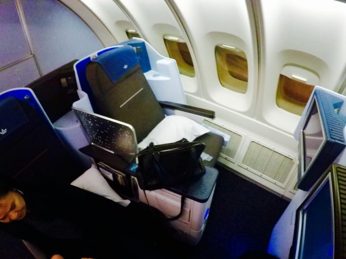klm, business class, boeing 747
