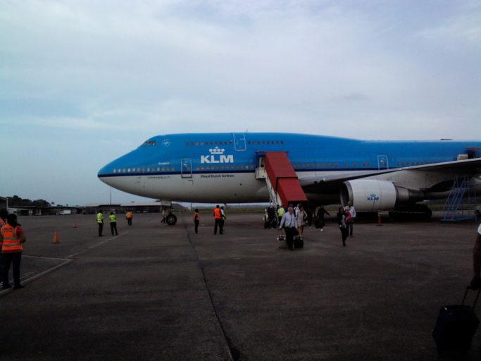 klm, boeing 747, business class, paramaribo