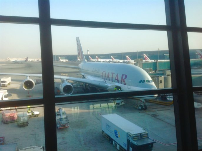 a380, qatar airways, doha
