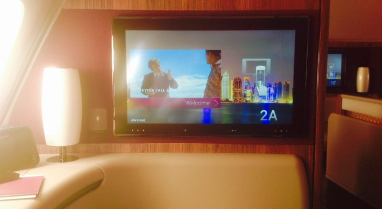 qatar airways, first class, a380, doha, review