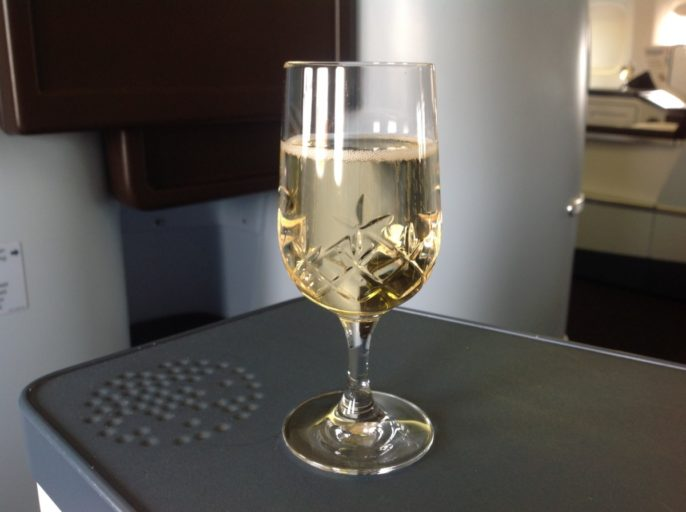champagne, klm, business class