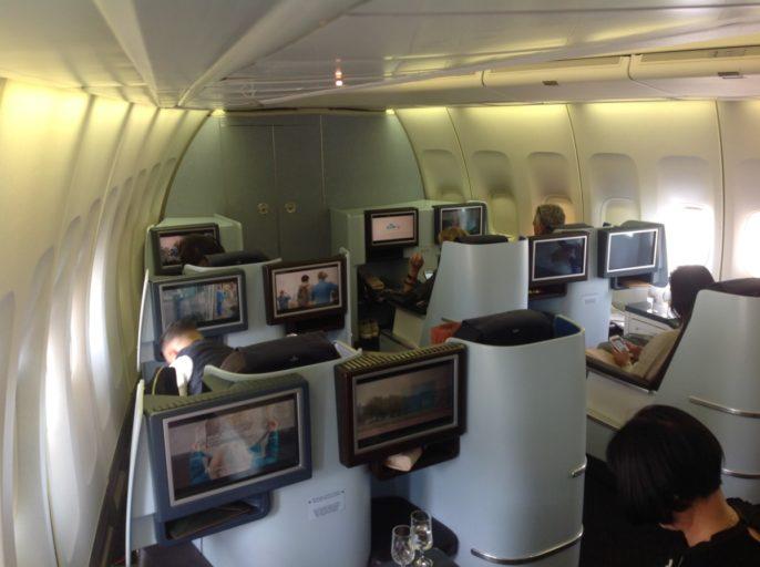 klm, business class, benedendek, boeing 747