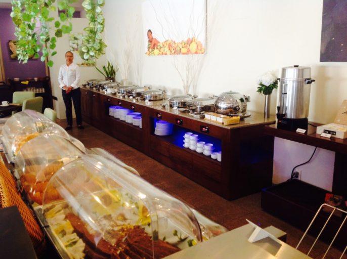 ontbijtbuffet, marriott, Paramaribo