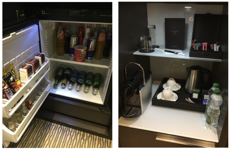 Minibar en koffie- en theefaciliteiten
