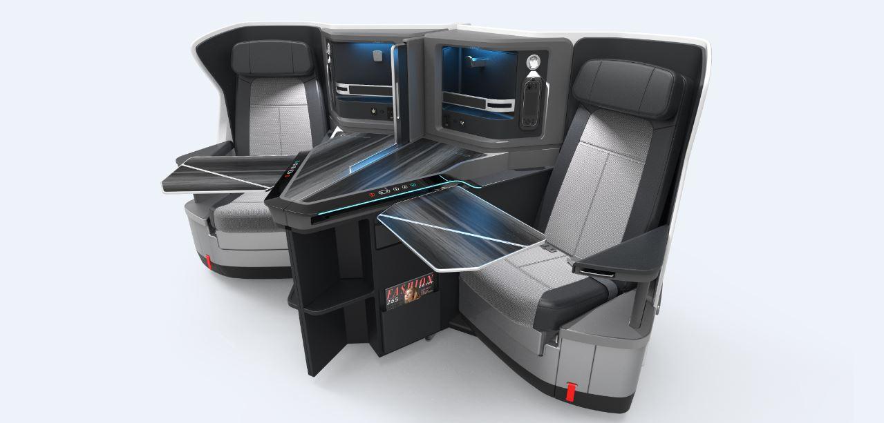 nieuwe world business class stoel in klm boeing 787 10