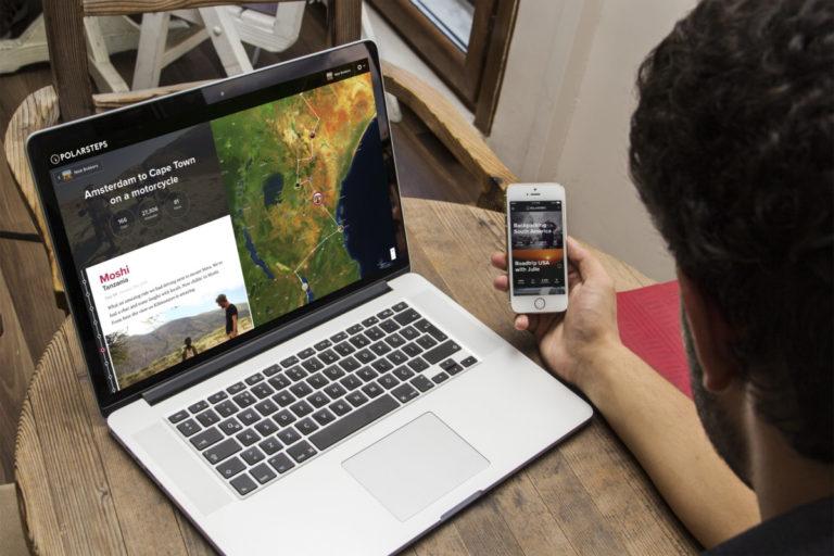 De app Polarsteps heeft een prachtige interface (Bron: Polarsteps)