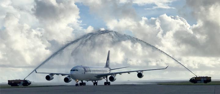 Airbus A340 van Joon op Sechelles International Airport (SEZ) (Bron: Joon)