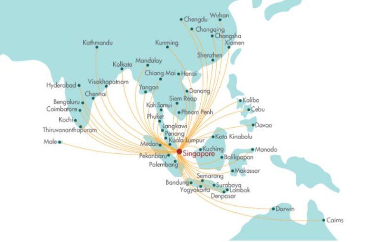 Het netwerk van SilkAir