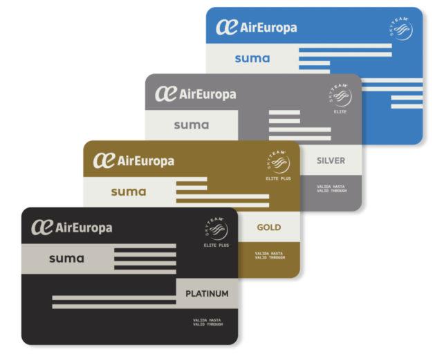 SUMA loyaliteitsprogramma van Air Europe (Bron: Air Europe)