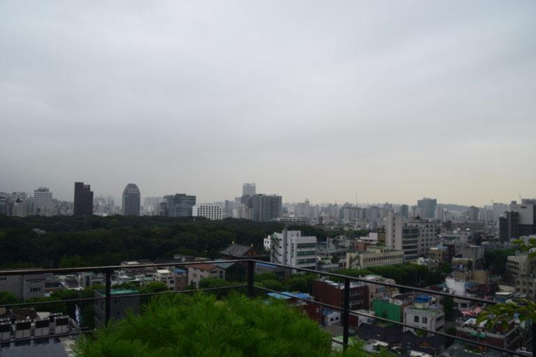 Uitzicht vanaf de Roof Garden