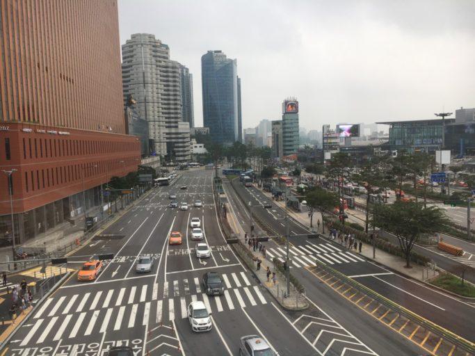 Uitzicht vanaf de Skygarden, Seoul