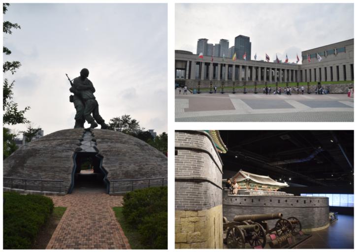Monumenten Korea oorlog en Historisch museum, Seoul