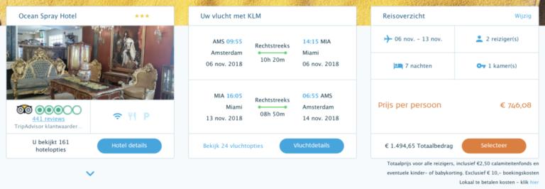 Package Deal met KLM naar Miami