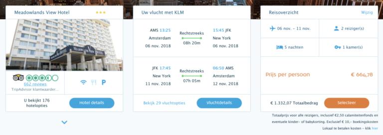 Package Deal met KLM naar New York