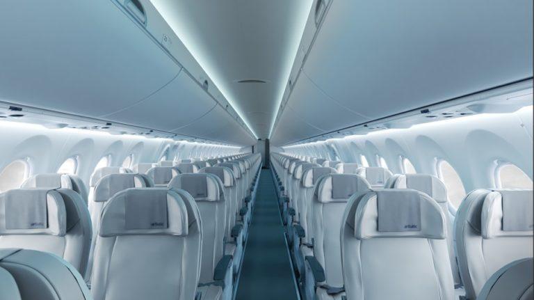 Interieur van de Bombardier CS300