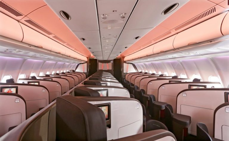 Virgin Upper Class in de Airbus A330-300 (Bron: Virgin Atlantic)