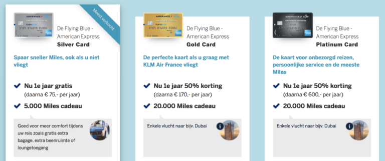 Sign-up bonus van 20.000 Miles bij American Express Card verlengd