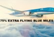 75% extra flying blue miles