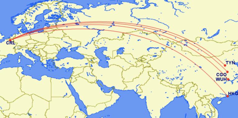Bestemmingen Air Belgium