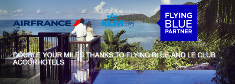 Double Your Miles With Flying Blue and Le Club AccorHotels