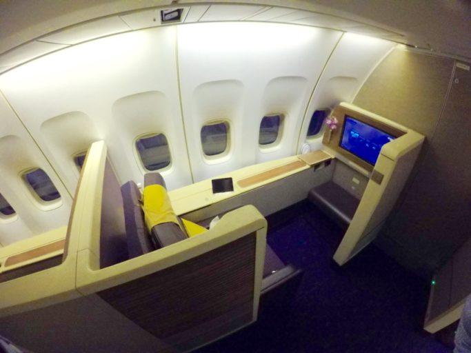 thai airways, boeing 747, royal first