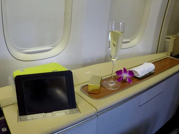 veuve clinquot, thai airways, royal first