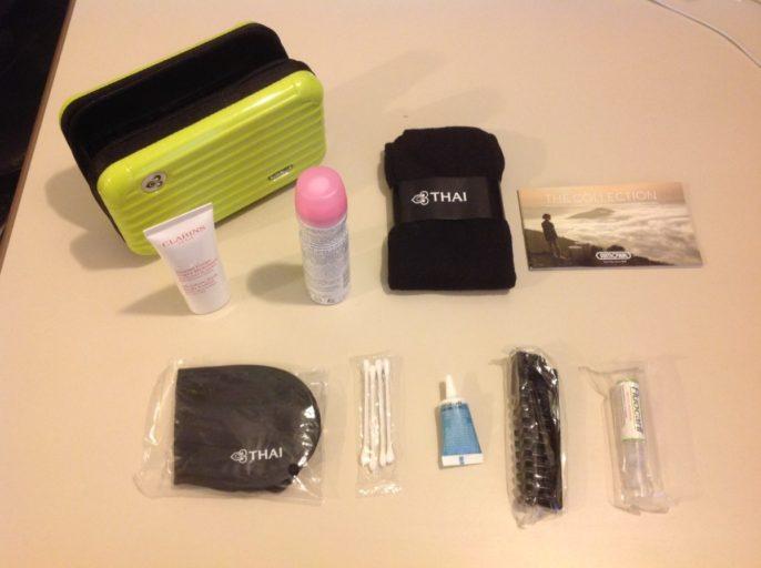 thai airways, amenity kit, royal first