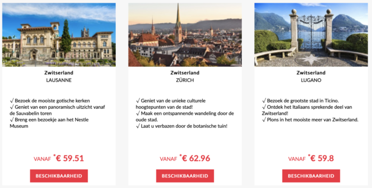 Aanbiedingen in Zwitserland