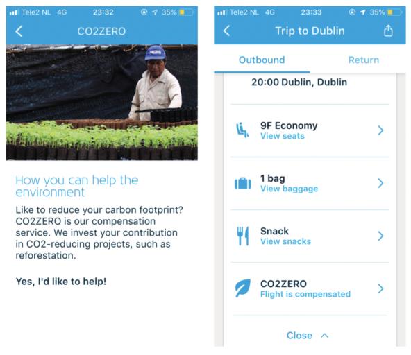 CO2-compensatie regel je nu gemakkelijk via de KLM App