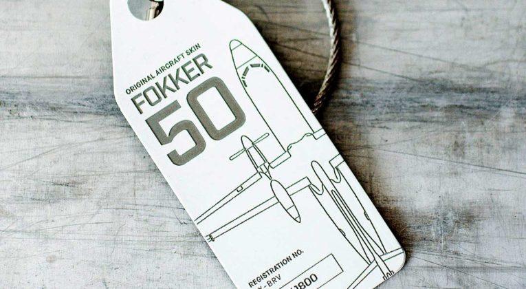 Unieke Aviationtag Fokker 50 tag nu met 10% korting