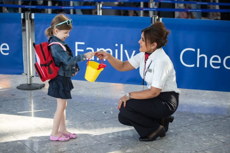 Family Check-in Zone bij British Airways (Bron: British Airways)