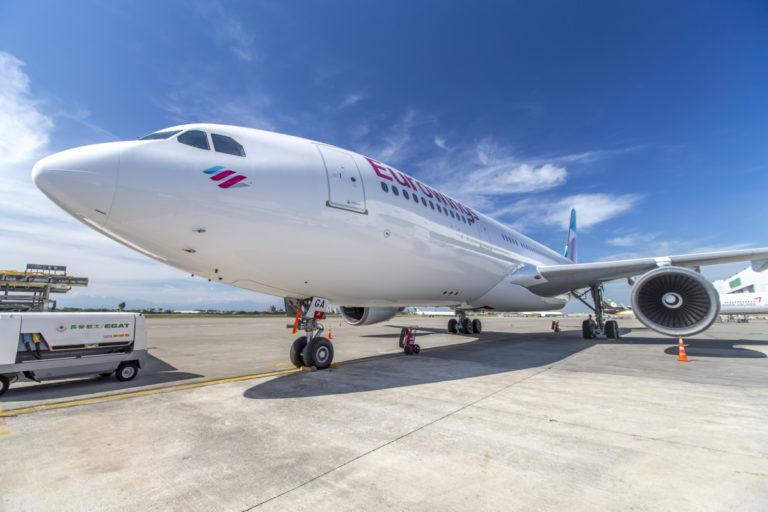 Eurowings Airbus A330-200 toestel in Taipeh (Foto: Eurowings)